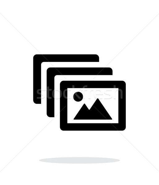 Foto archief icon witte frame web Stockfoto © tkacchuk