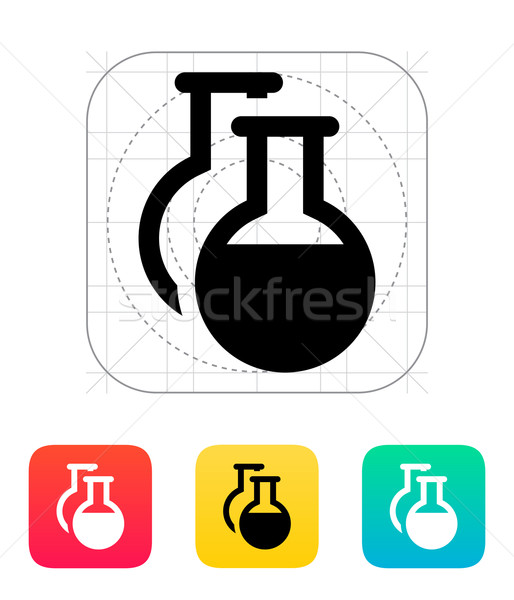 Florence flasks icon. Vector illustration. Stock photo © tkacchuk