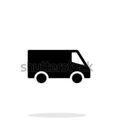 Levering minibus icon witte auto ontwerp Stockfoto © tkacchuk