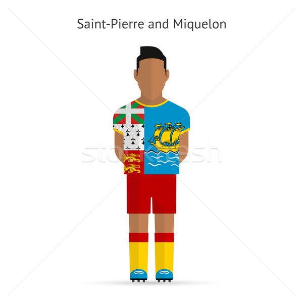 Saint-Pierre and Miquelon football player. Soccer uniform. Stock photo © tkacchuk