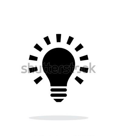 More light icon on white background. Stock photo © tkacchuk