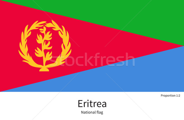 National flag of Eritrea with correct proportions, element, colors Stock photo © tkacchuk