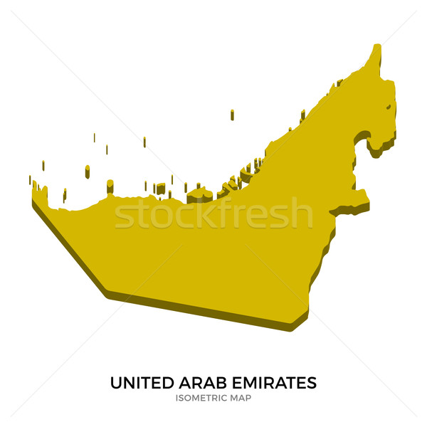 Isometric map of United Arab Emirates detailed vector illustration Stock photo © tkacchuk