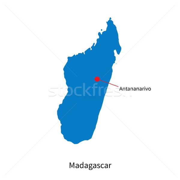 Részletes vektor térkép Madagaszkár város oktatás Stock fotó © tkacchuk