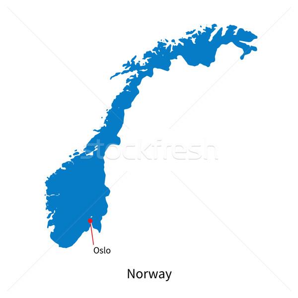 詳しい ベクトル 地図 ノルウェー 市 オスロ ストックフォト © tkacchuk