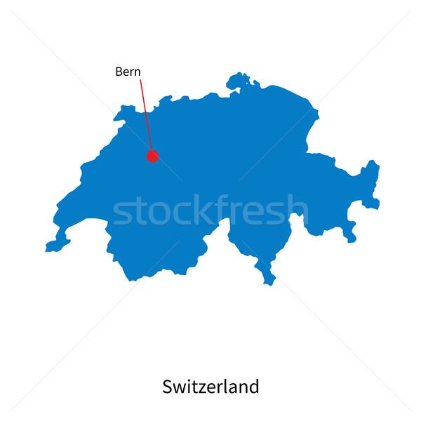 詳しい ベクトル 地図 スイス 市 世界 ストックフォト © tkacchuk