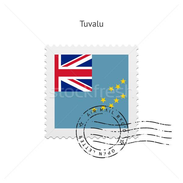 Tuvalu Flag Postage Stamp. Stock photo © tkacchuk