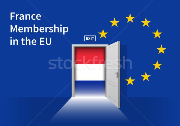 Europese unie vlag muur deur eu Stockfoto © tkacchuk