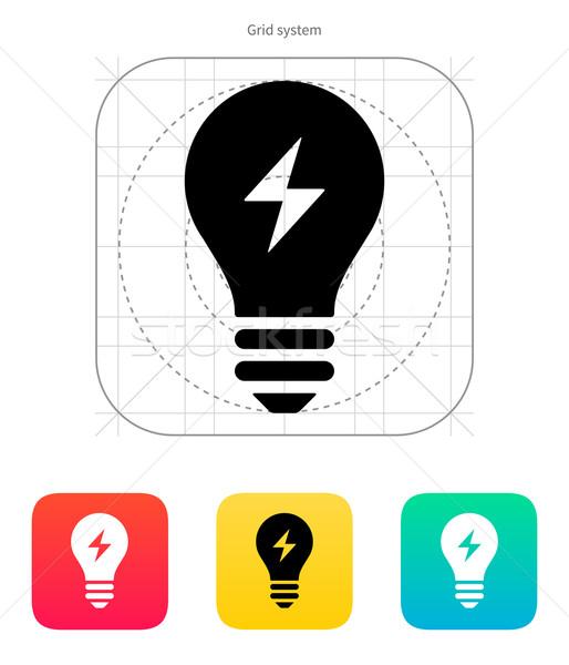 Elektrische · Licht · Symbol · weiß · Lampe · Energie - vektor ...