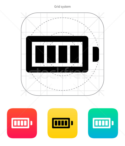Full charge battery icon. Vector illustration. Stock photo © tkacchuk