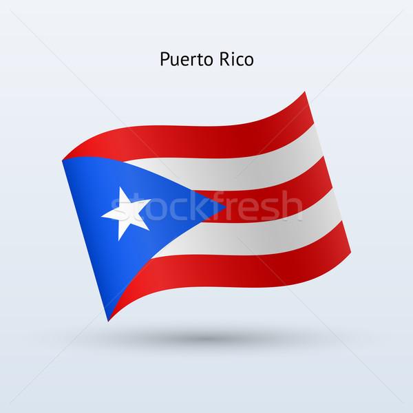 Puerto Rico vlag vorm grijs teken Stockfoto © tkacchuk