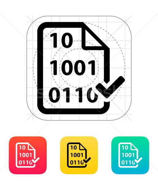 File icona design vetro sicurezza segno Foto d'archivio © tkacchuk