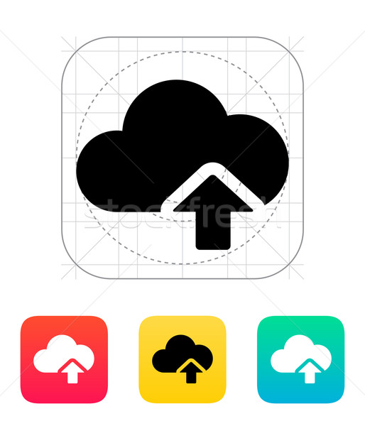 Cloud computing upload icon. Stock photo © tkacchuk