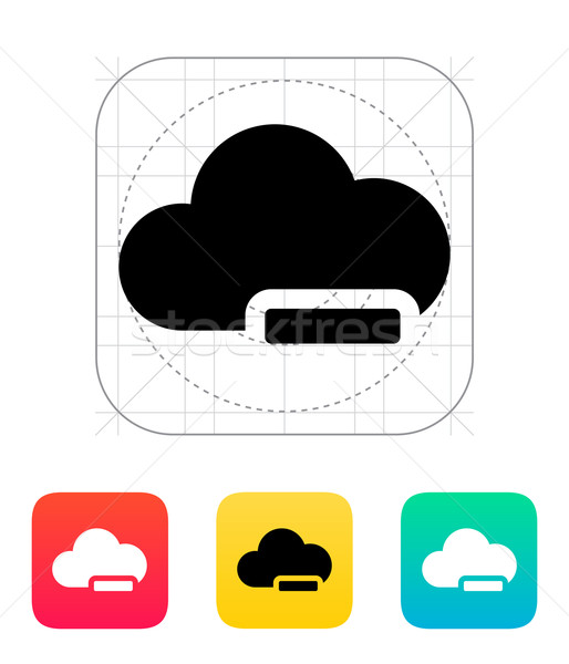 Cloud computing with minus icon. Stock photo © tkacchuk