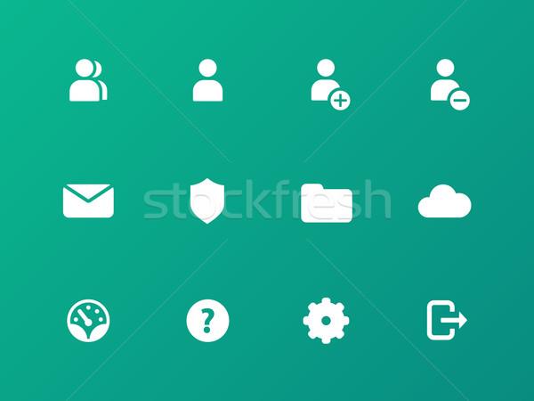 Utente conto icone verde business tecnologia Foto d'archivio © tkacchuk