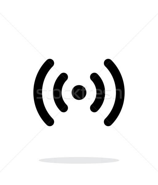 ラジオ 波 アイコン 白 ワイヤレス技術 ビジネス ストックフォト © tkacchuk