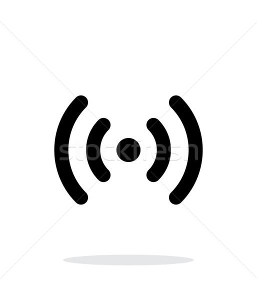 Radio onde icona bianco tecnologia senza fili business Foto d'archivio © tkacchuk