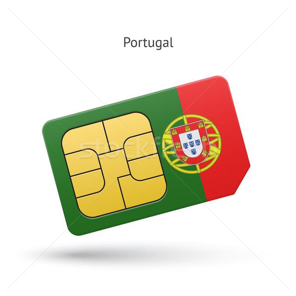 Portugal mobile phone sim card with flag. Stock photo © tkacchuk