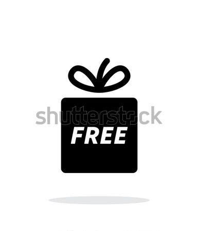 Free gift icon on white background. Stock photo © tkacchuk