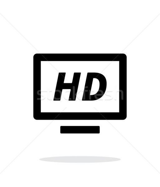 TV simple icon on white background. Stock photo © tkacchuk