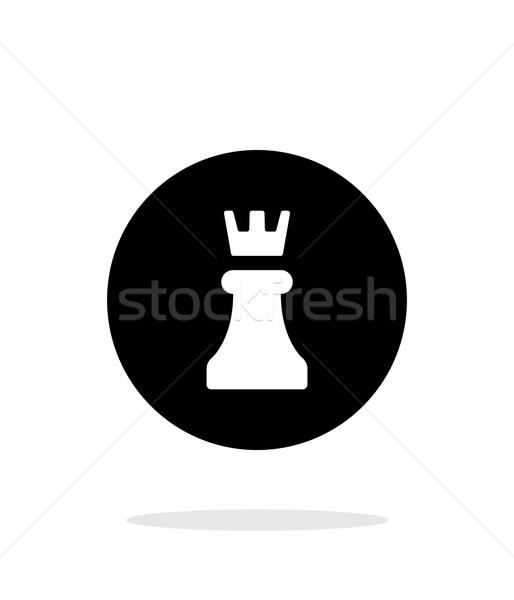 Chess Rook simple icon on white background. Stock photo © tkacchuk