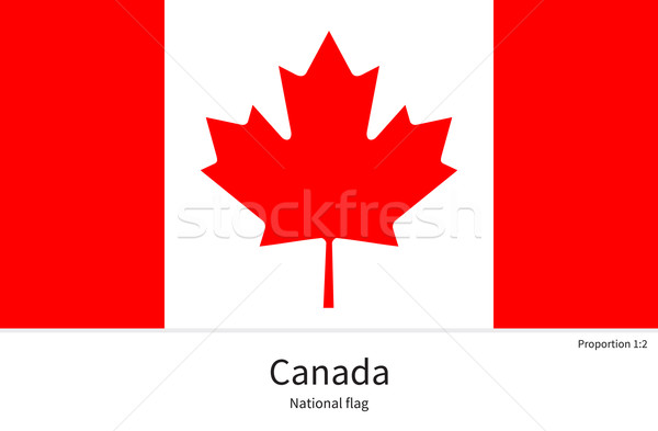 National flag of Canada with correct proportions, element, colors Stock photo © tkacchuk