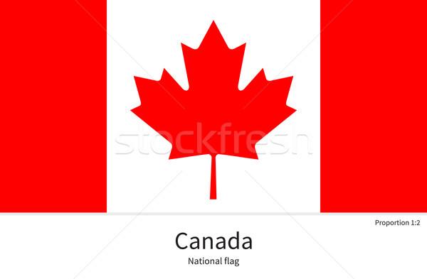 Bandiera Canada correggere elemento colori istruzione Foto d'archivio © tkacchuk