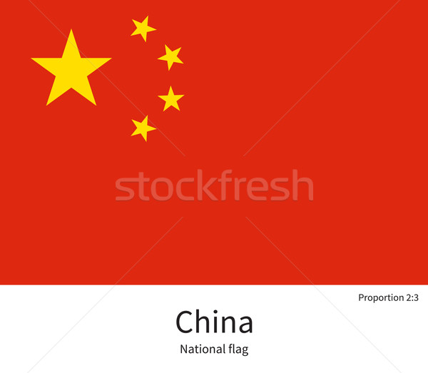 National flag of China with correct proportions, element, colors Stock photo © tkacchuk