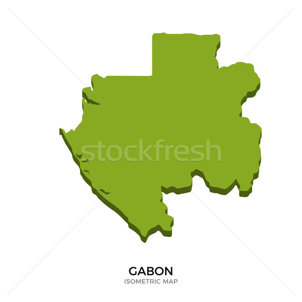 Isometric map of Gabon detailed vector illustration Stock photo © tkacchuk