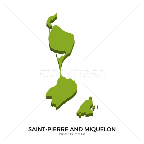 Isometric map of Saint-Pierre and Miquelon detailed vector illustration Stock photo © tkacchuk