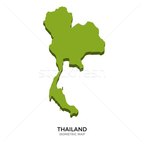 Isometrische kaart Thailand gedetailleerd geïsoleerd 3D Stockfoto © tkacchuk