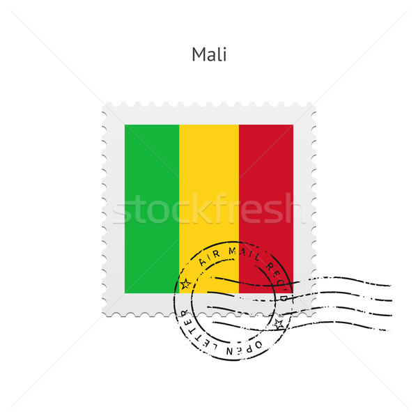 Mali Flag Postage Stamp. Stock photo © tkacchuk