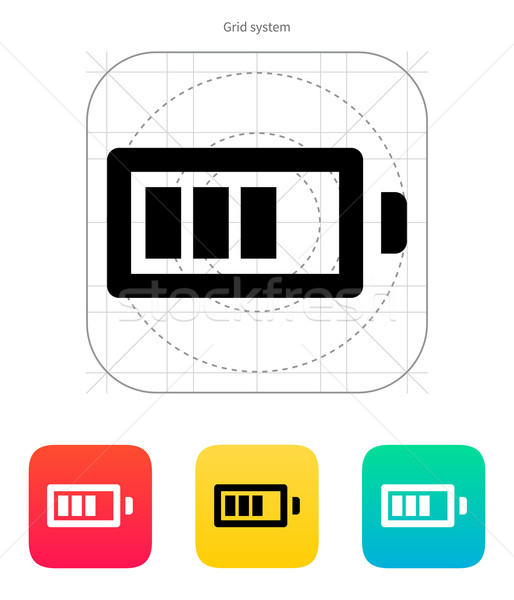 Battery charge icon. Vector illustration. Stock photo © tkacchuk