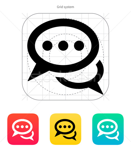 Dialogue icon. Vector illustration. Stock photo © tkacchuk