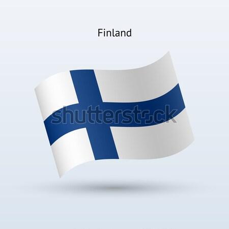 Finlândia bandeira forma cinza assinar Foto stock © tkacchuk