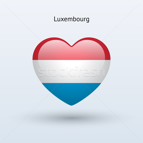 Miłości Luksemburg symbol serca banderą ikona Zdjęcia stock © tkacchuk