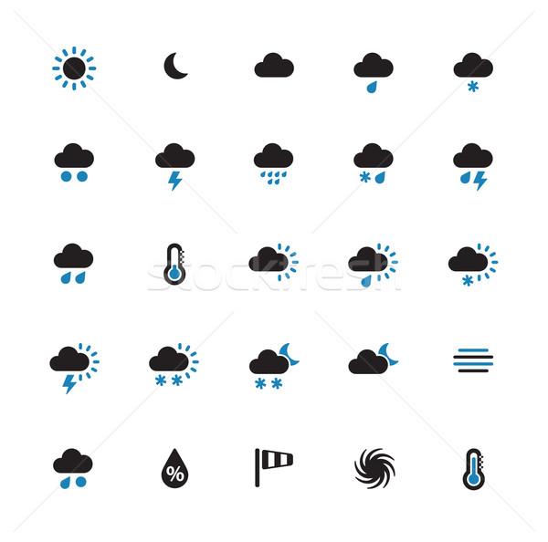Weather duotone icons on white background. Stock photo © tkacchuk