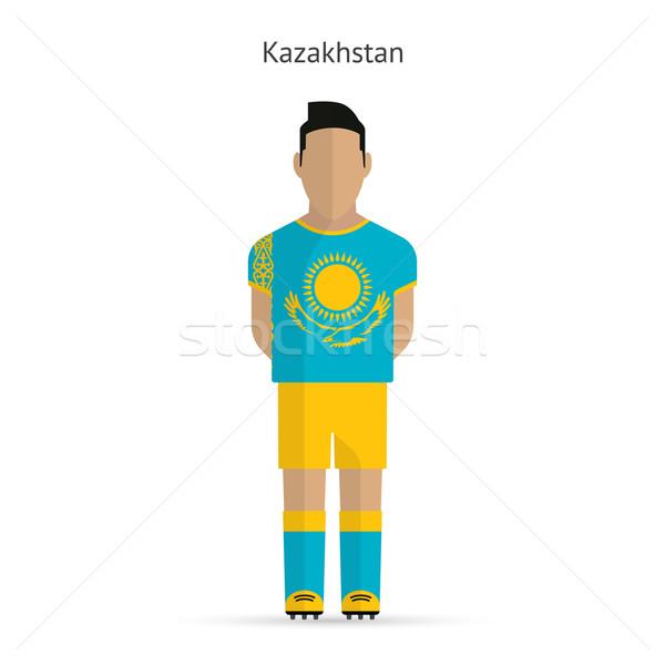 Cazaquistão futebol uniforme abstrato fitness Foto stock © tkacchuk