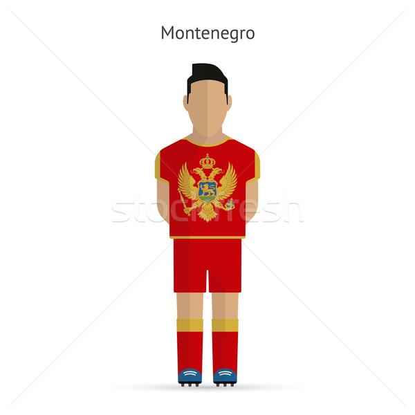Montenegro football player. Soccer uniform. Stock photo © tkacchuk