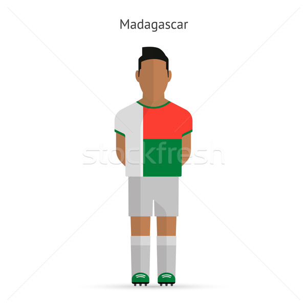 Мадагаскар футболист Футбол равномерный аннотация фитнес Сток-фото © tkacchuk
