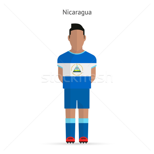 Nicarágua futebol uniforme abstrato fitness Foto stock © tkacchuk