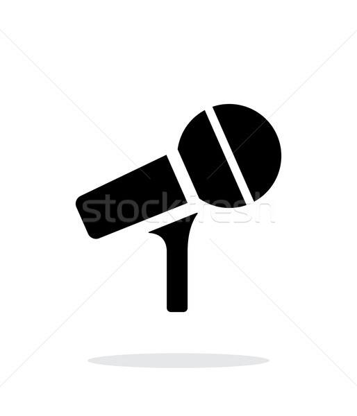 Microphone on stand icon on white background. Stock photo © tkacchuk
