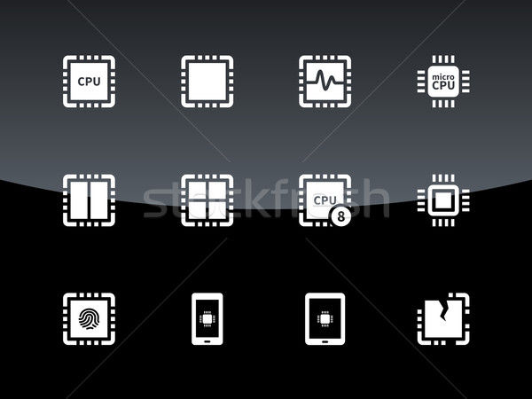 процессор иконки черный интернет веб цвета Сток-фото © tkacchuk