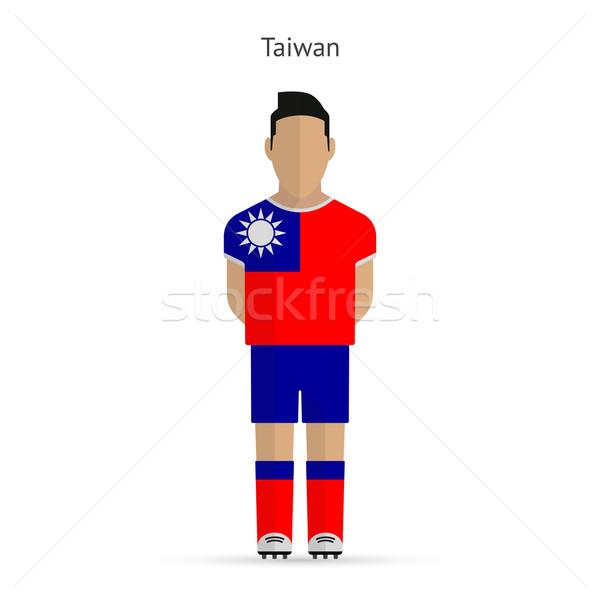 Taiwan football player. Soccer uniform. Stock photo © tkacchuk