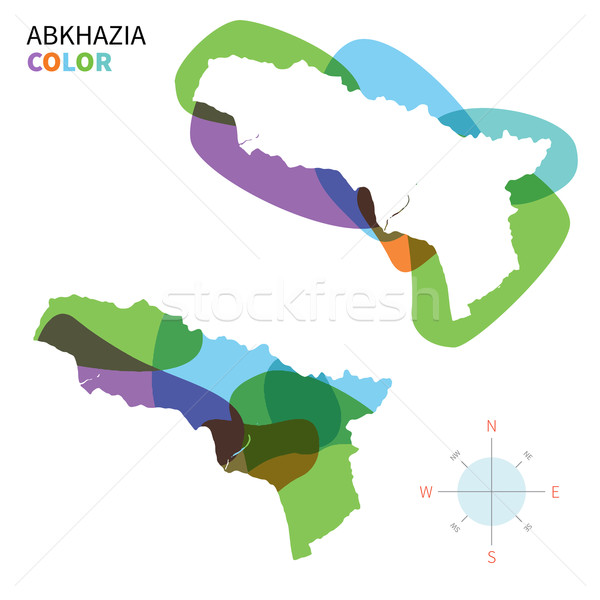 Abstract vector color map of Abkhazia with transparent paint effect. Stock photo © tkacchuk