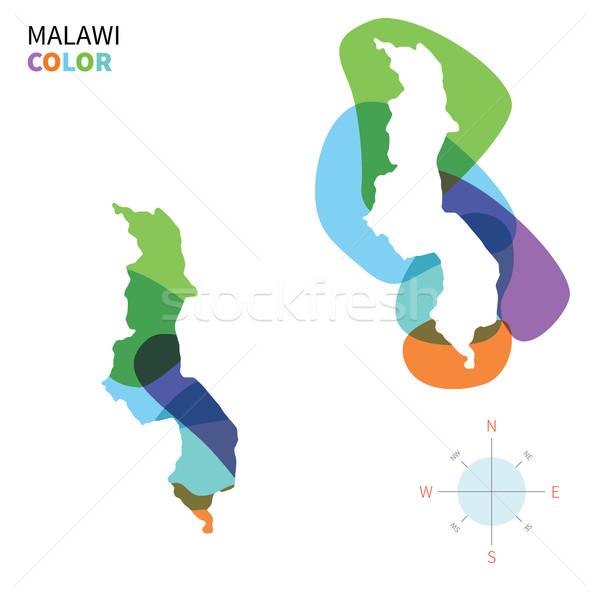 аннотация вектора цвета карта Малави прозрачный Сток-фото © tkacchuk