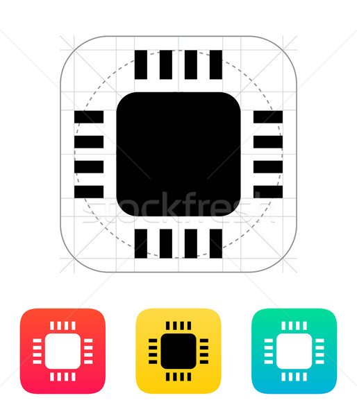 Klein cpu icon vector illustratie communicatie Stockfoto © tkacchuk