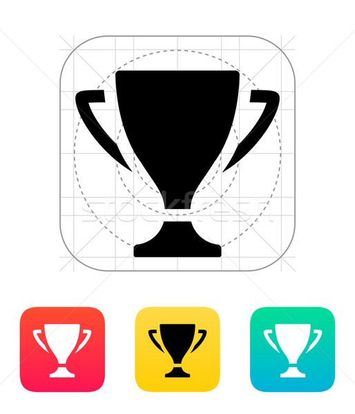 トロフィー アイコン デザイン にログイン シルエット 成功 ストックフォト © tkacchuk