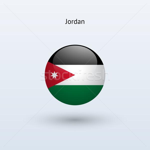 Jordania banderą szary podpisania internetowych podróży Zdjęcia stock © tkacchuk