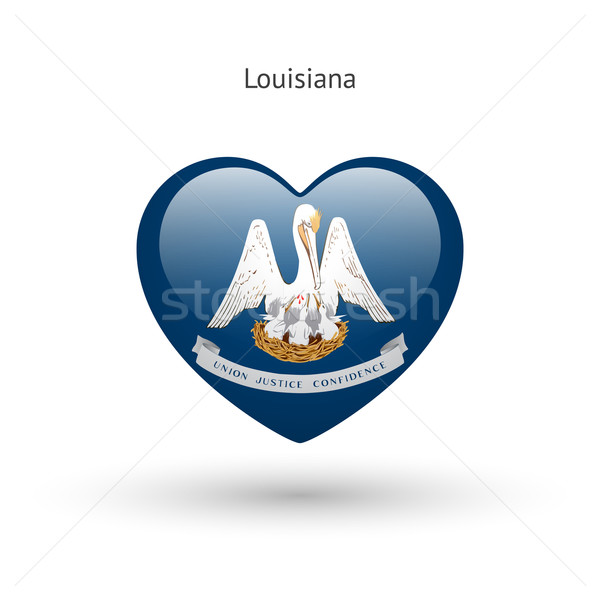 Love Louisiana state symbol. Heart flag icon. Stock photo © tkacchuk